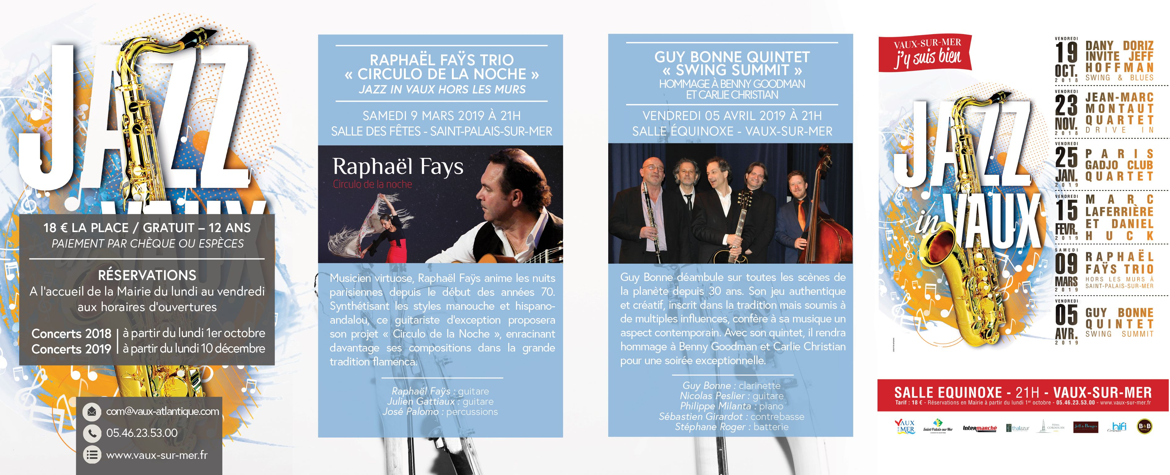 Jazz in vaux 17 me dition culture et loisirs - Office tourisme vaux sur mer ...